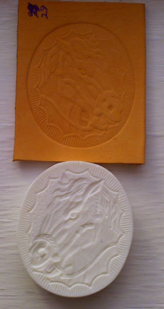 oval horse looking right embossing plate 29