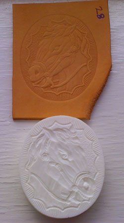 horse looking left leather embossing plate 28