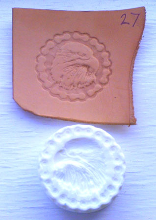 round bike chain and eagle leather embossing plate 27