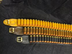 12 Bore (Gauge) Leather Cartridge Belt Open Seated
