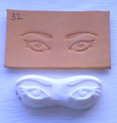 eyes leather embossing plate 32