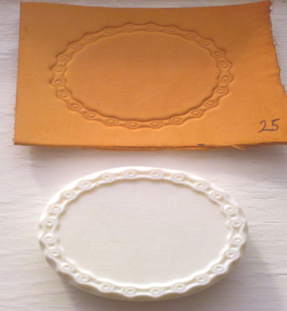 oval bike chain leather embossing plate 25