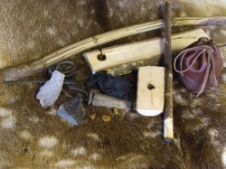 bow drill kit, fire lighting the primitive way,
