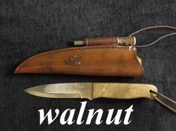 bushcraft knife walnut