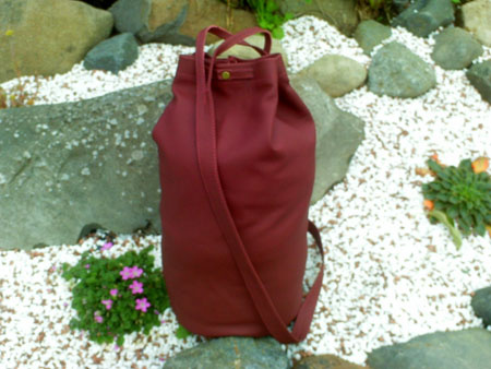 duffle bag leather daysack
