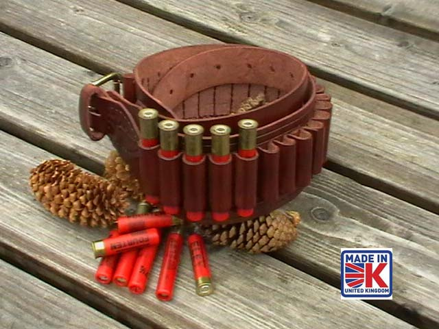 410 Bore (Gauge) Leather Cartridge Belt
