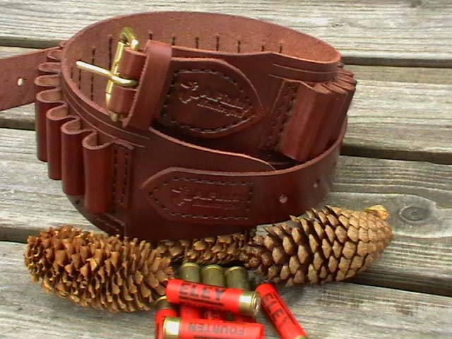 410 leather cartridge belt