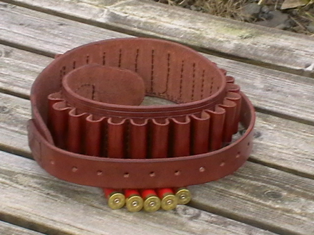 28 gauge bore leather cartridge belt