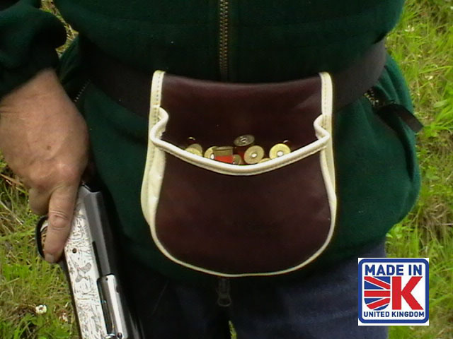 leather shooters cartridge bag