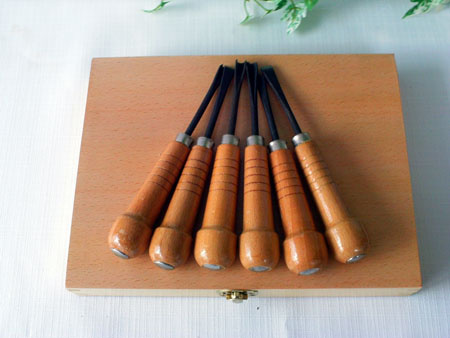 boxed wood carving set